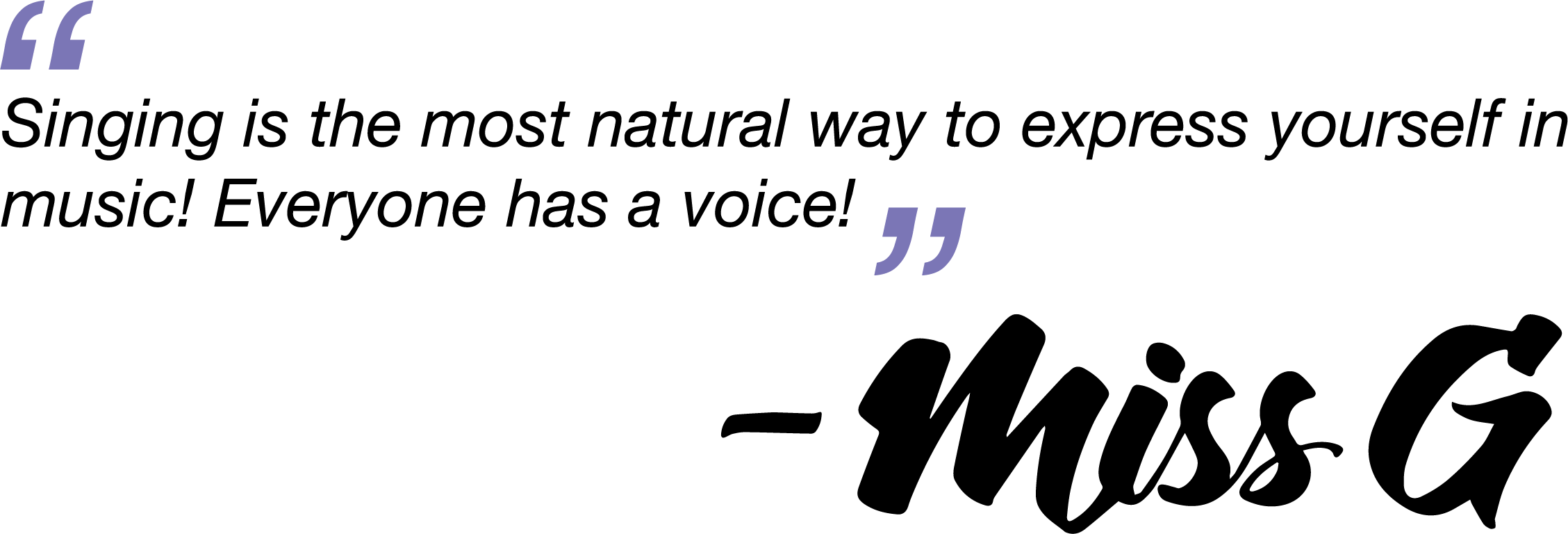 Singing-Quote